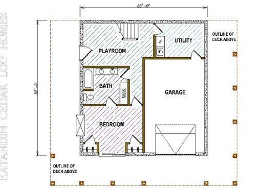 Log Home Plan #05410
