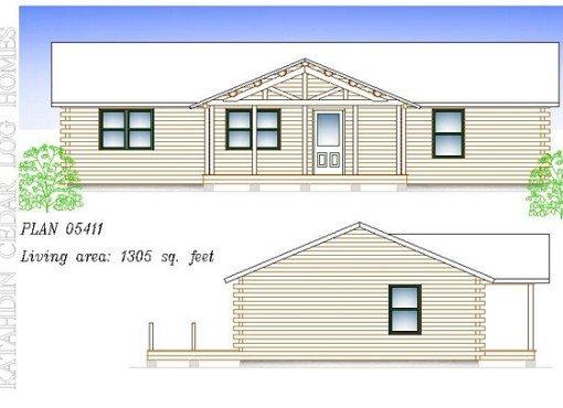 Log Home Plan #05411