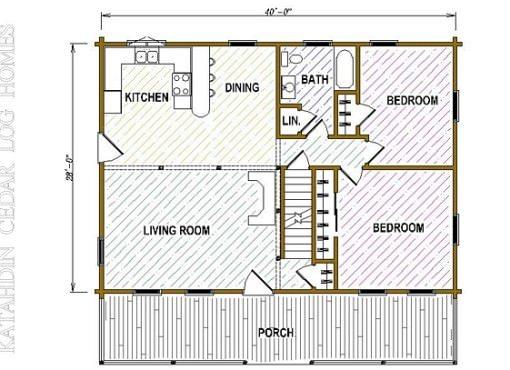 Log Home Plan #05412