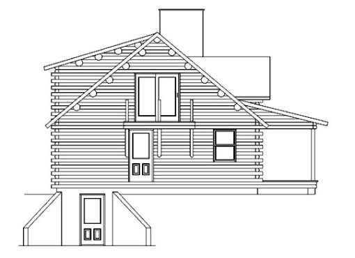 Log Home Plan #05412