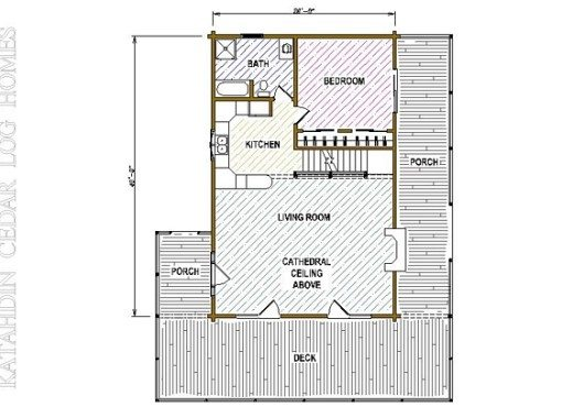 Log Home Plan #05413