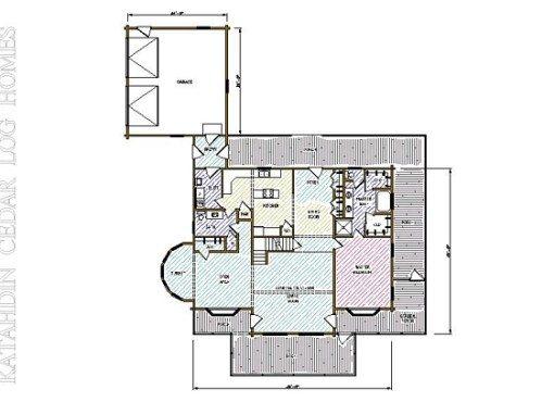 Log Home Plan #05414