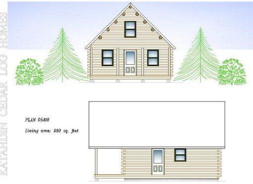 Log Home Plan #05418