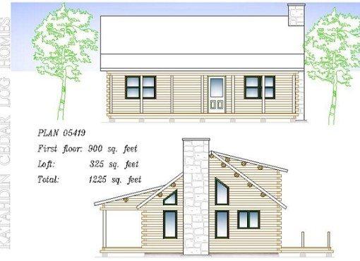 Log Home Plan #05419