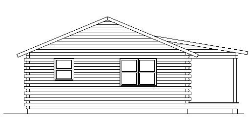 Log Home Plan #05424