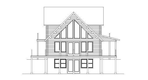 Log Home Plan #05428