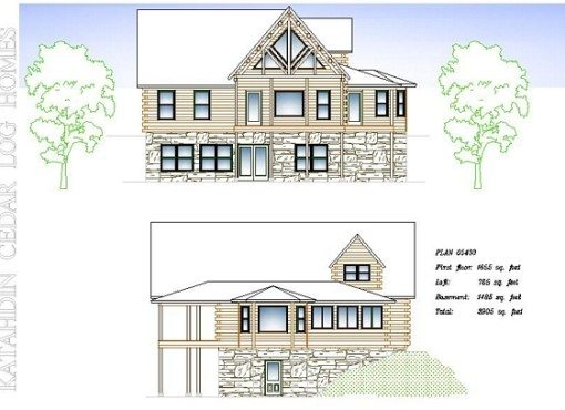 Log Home Plan #05430