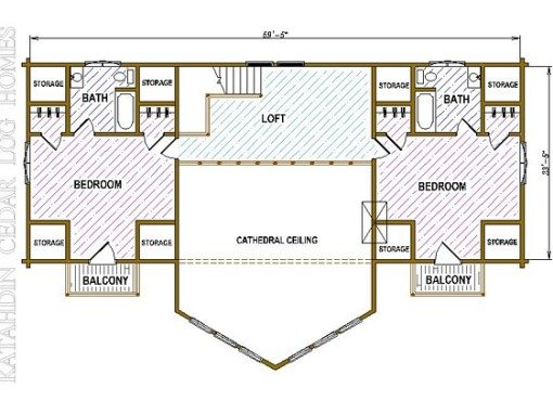 Log Home Plan #05432