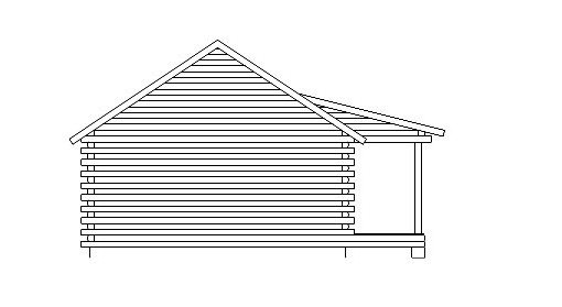 Log Home Plan #05433