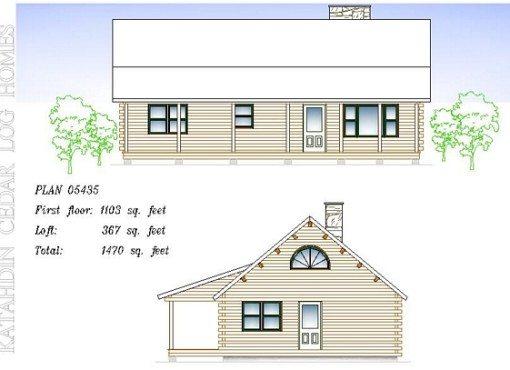 Log Home Plan #05435