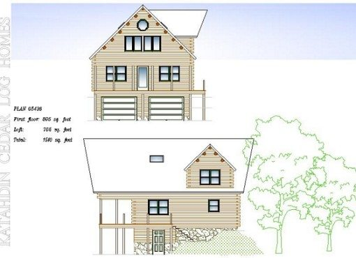 Log Home Plan #05436