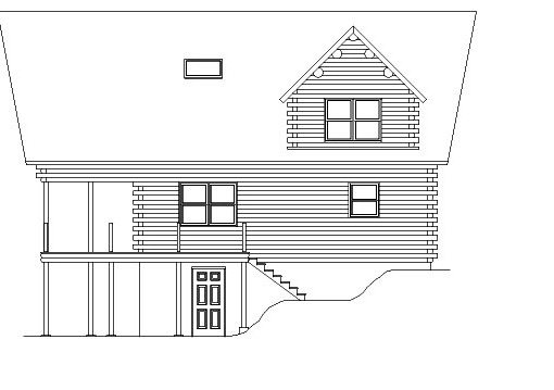 Log Home Plan #05436