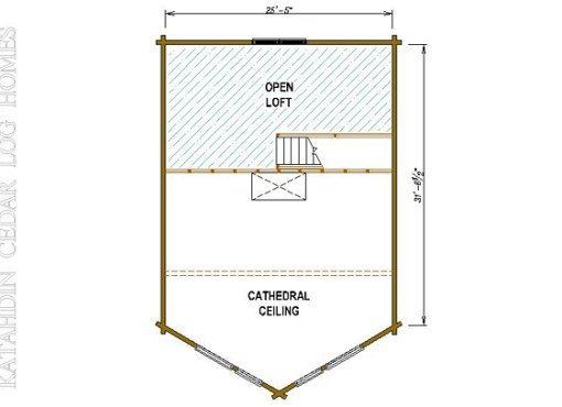Log Home Plan #05437
