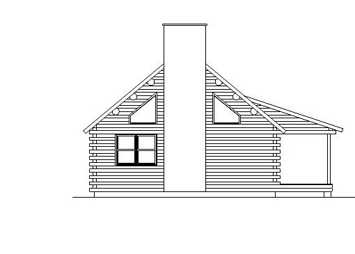 Log Home Plan #05438