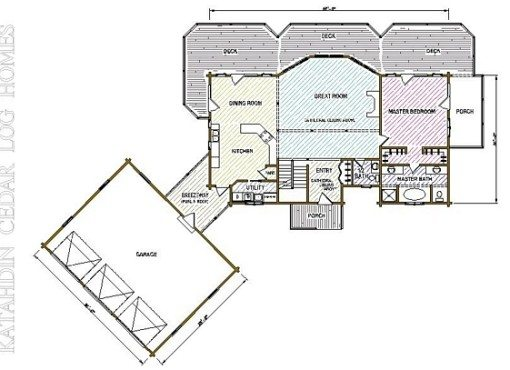 Log Home Plan #05439