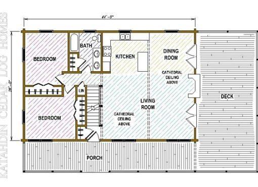 Log Home Plan #05440
