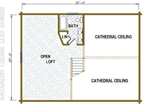 Log Home Plan #05441