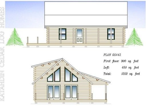 Log Home Plan #05442