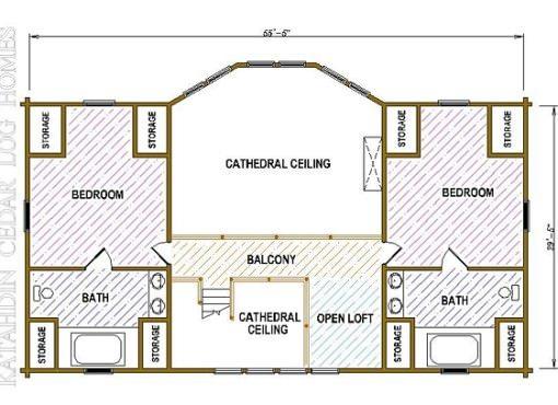 Log Home Plan #05443