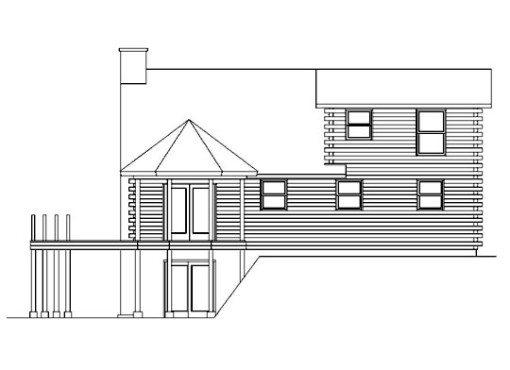 Log Home Plan #05444