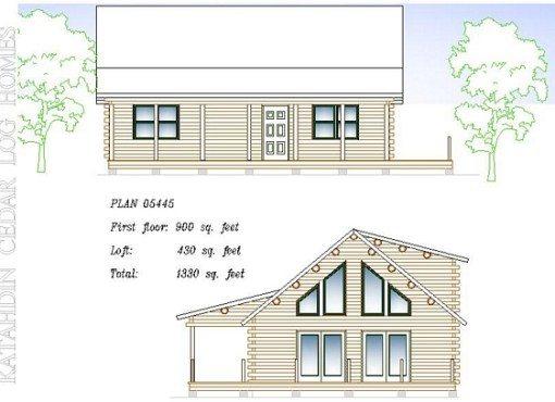 Log Home Plan #05445