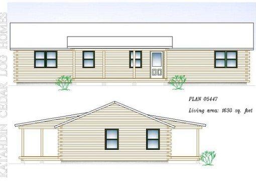 Log Home Plan #05447