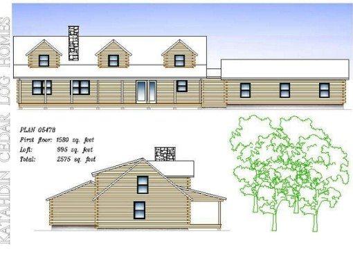 Log Home Plan #05478