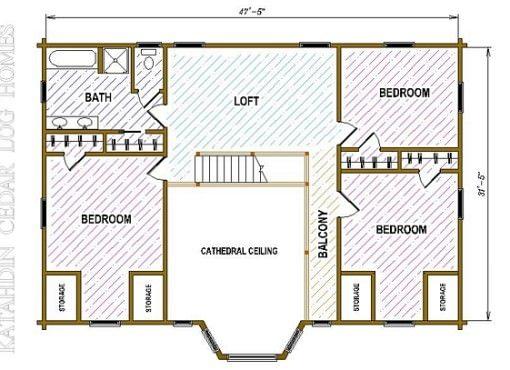 Log Home Plan #05491