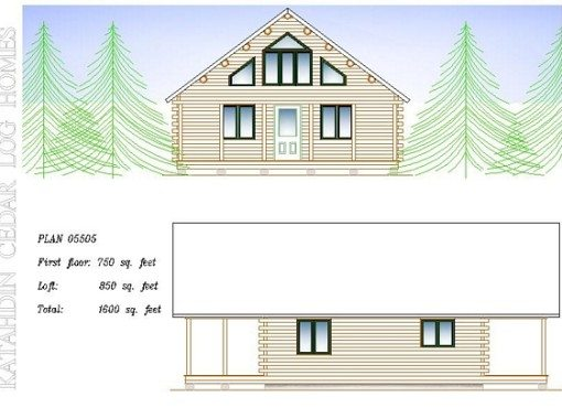 Log Home Plan #05505