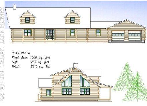 Log Home Plan #05520
