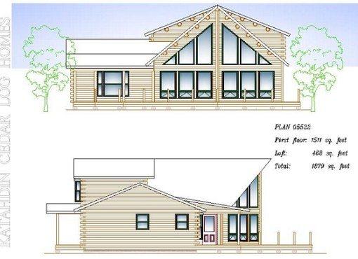 Log Home Plan #05522