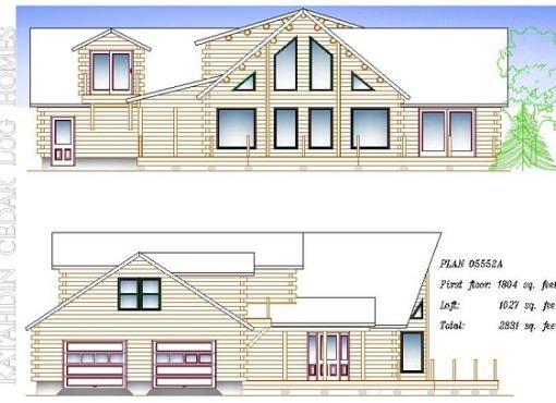 Log Home Plan #05552