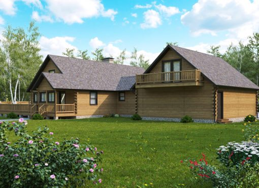 Log Home Plan #15304