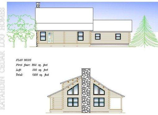 Log Home Plan #06513