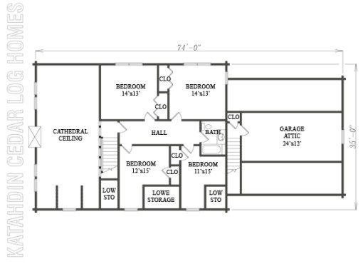 Log Home Plan #06530