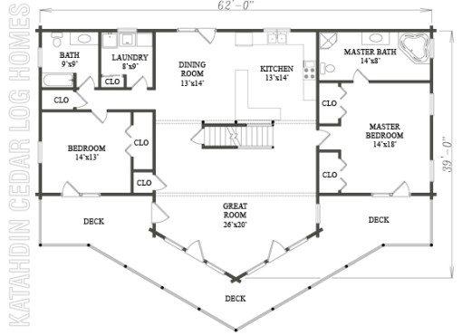 Log Home Plan #06558