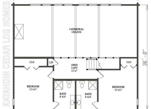 Log Home Plan #06665