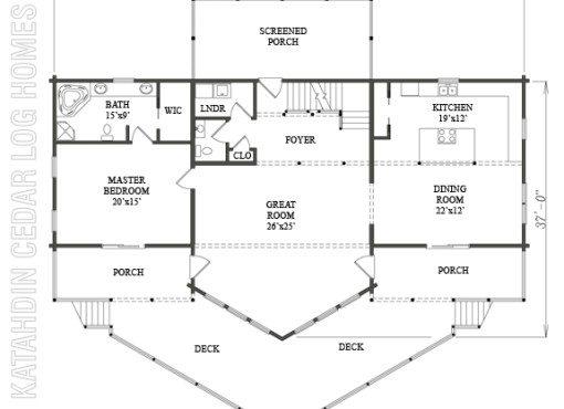 Log Home Plan #06750