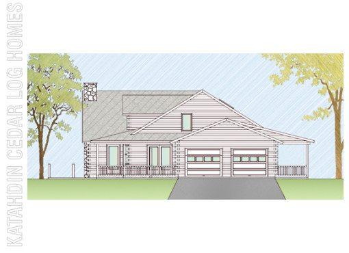 Log Home Plan #06773