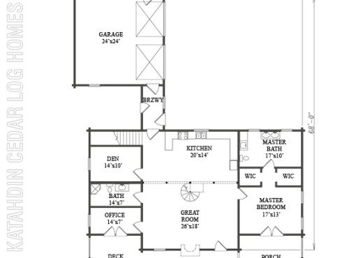 Log Home Plan #07705