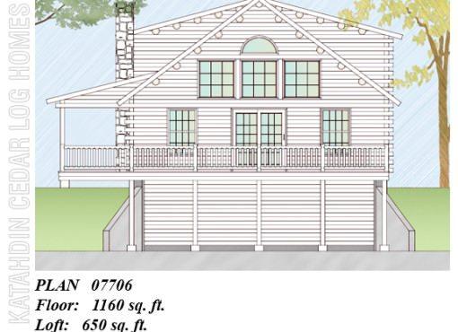 Log Home Plan #07706