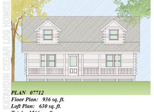 Log Home Plan #07712