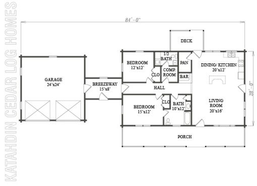 Log Home Plan #07715