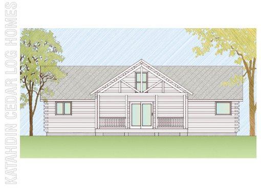 Log Home Plan #07720