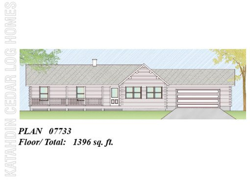 Log Home Plan #07733