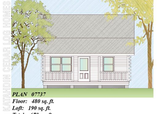 Log Home Plan #07737