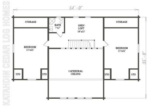 Log Home Plan #07741