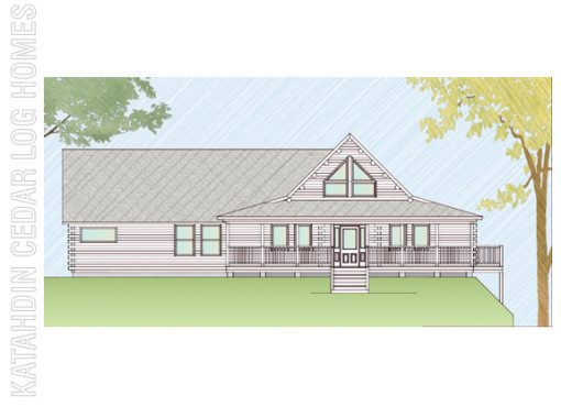 Log Home Plan #07742