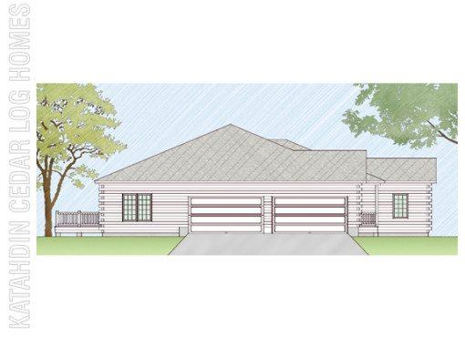 Log Home Plan #07745