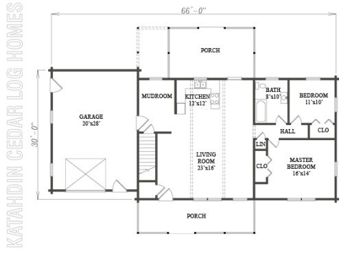 Log Home Plan #07746